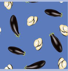 Eggplant seamless pattern vector