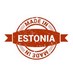 estonia stamp design vector image
