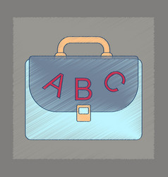 flat shading style icon school bag backpack vector image