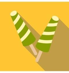 Fruit ice cream icon flat style vector
