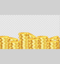 golden coins background isolated realistic money vector image