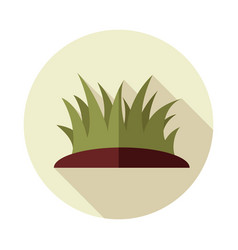 grass flat icon vector image