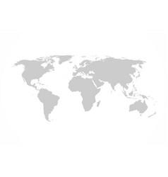 Grey world map flat design vector