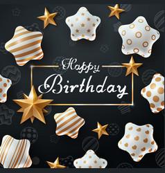 Happy birthday beautiful dark template vector