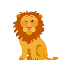 head of lion wild animal with furry coat isolated vector image