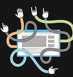 Human gestures using modern website vector