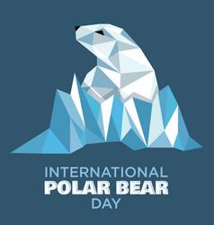 International polar bear day vector