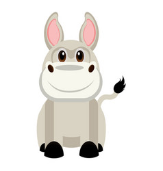 isolated cute donkey vector image