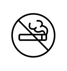 It is forbidden to smoke an icon isolated vector