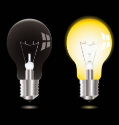 light bulb on off vector image