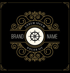 luxury logo in vintage style vector image