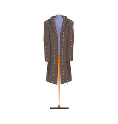 Male fashion clothes on dummy male mannequin for vector