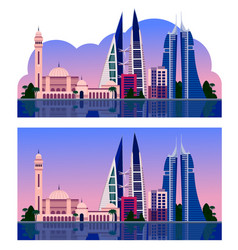 manama beautiful evening view vector image