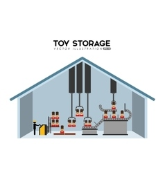 Manufacture of toys vector