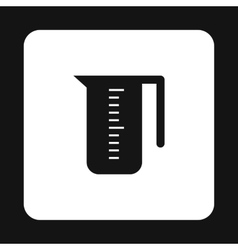 Measuring cup icon simple style vector image