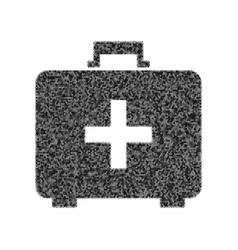medical first aid box sign black icon vector image