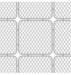 Metal fences wire mesh vector