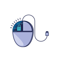 mouse device computer isolated icon vector image