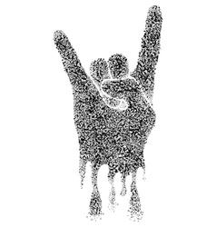 Musical Rock Gesture vector image
