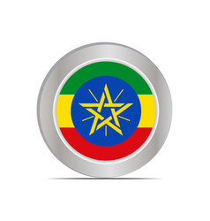 National flag ethiopia is isolated vector