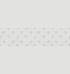 Natural gray woven french linen texture border vector