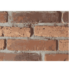 old red brick wall background stylized ilustration vector image