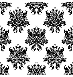 Ornate floral arabesque design vector