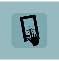 Pale blue touchscreen icon vector image