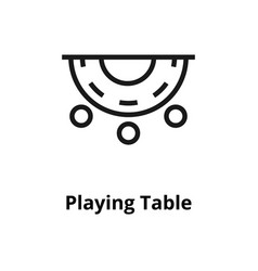 playing table line icon vector image