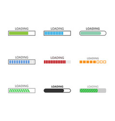 progress loading bar set vector image