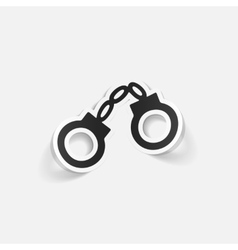 realistic design element handcuffs vector image