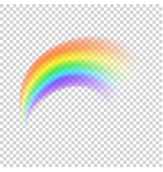 Realistic rainbow icon vector