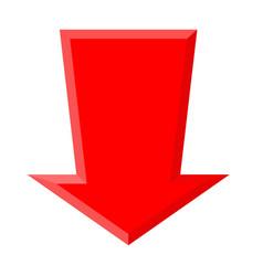 Red down arrow vector