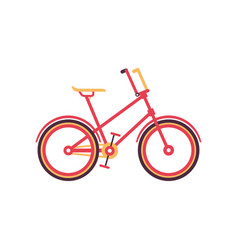 red vintage bike modern bicycle vector image