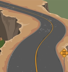 Road and cliff vector