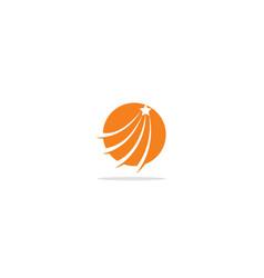 Round curve star loop logo vector