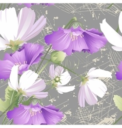 Seamless pattern of wild flowers vector