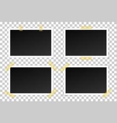 Set black photo frames vector