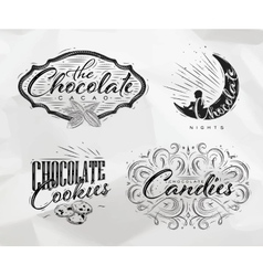 Set chocolate labels vector