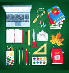 set education supplies vector image