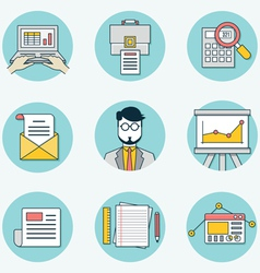 Set of data analytics icons for business - part 2 vector