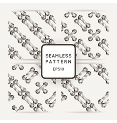 Set of seamless patterns with crossed and vector