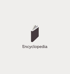 simple clean encyclopedia book logo sign symbol vector image