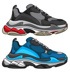 Sneakers trendy vector