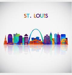 stlouis skyline silhouette vector image