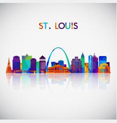 Stlouis skyline silhouette vector