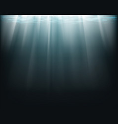 sun rays underwater vector image