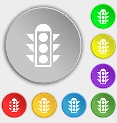 Traffic light signal icon sign Symbols on eight vector