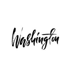 Washington modern dry brush lettering retro vector