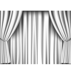White curtain vector